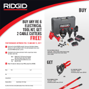 RE 6 Electrical Kit, Free Cable Cutters Promo at Mid-Canada Fasteners & Tools Ltd.