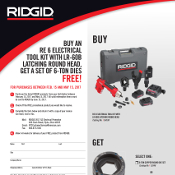 RE 6 Electrical Kit, Free Dies Promo at Mid-Canada Fasteners & Tools Ltd.