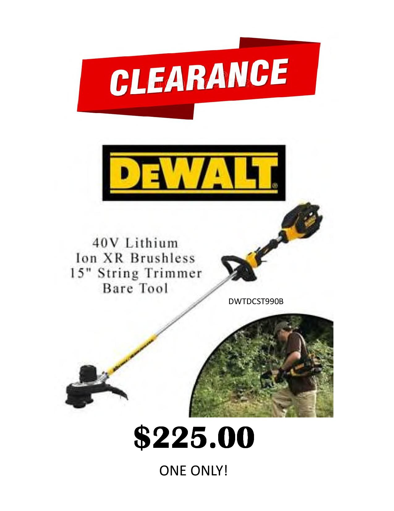 40V String Trimmer Clearance-p0